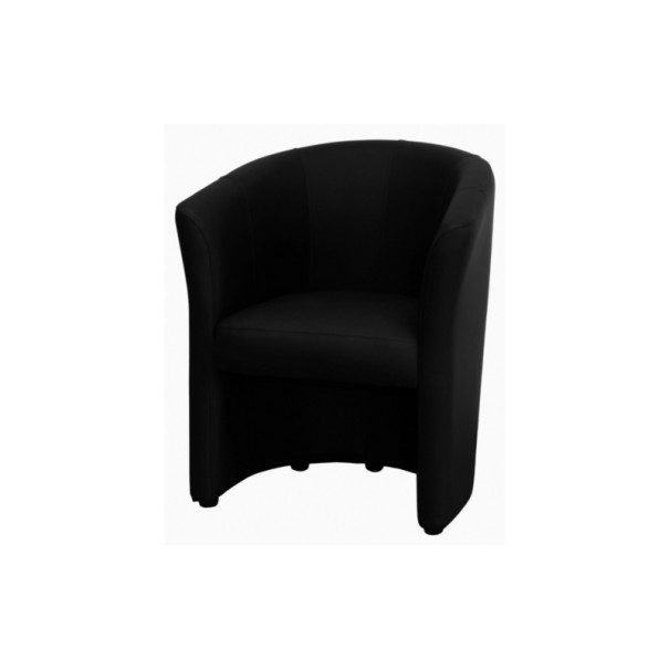 fauteuil type club noir. Black Bedroom Furniture Sets. Home Design Ideas