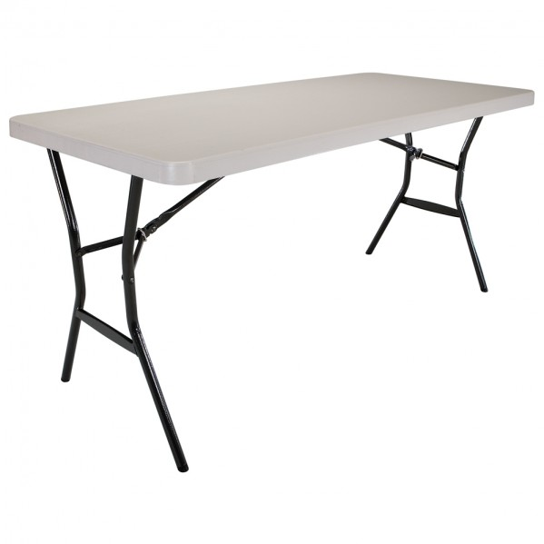 Table pliante rectangulaire 152cm (beige) / 4-6 personnes