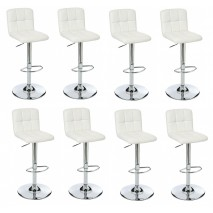 Lot de 8 tabourets de bar réglable