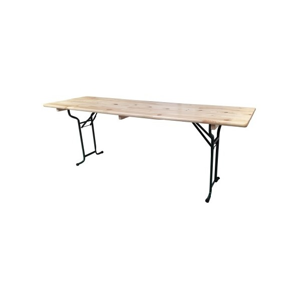 Table pliante brasserie rectangle 220 cm x 70 cm